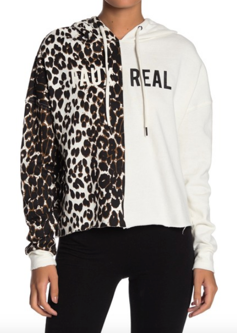 """Faux Real"" Leopard and Solid Hoodie - hokiis"