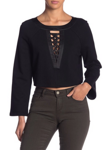 Lace-Up Detailed Crop Top - hokiis