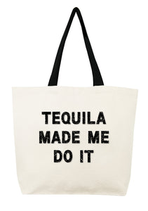 'Tequila Made Me Do It' Crystal Tote - hokiis