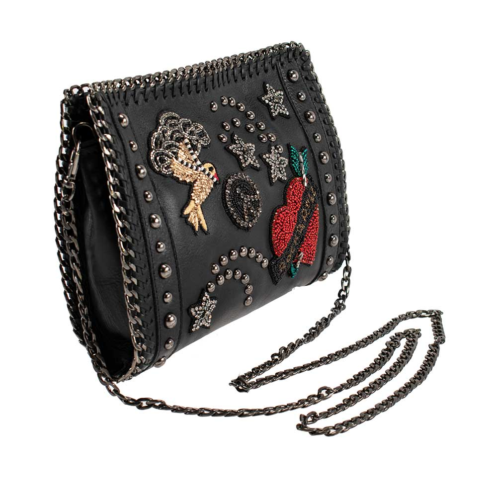 Escape Embellished Leather Crossbody - hokiis