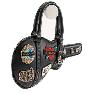 Road Show Embellished Leather Guitar Crossbody - hokiis