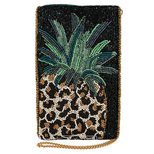 Fruit Gone Wild Beaded Crossbody Phone Bag - hokiis