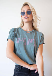 'Offline' Destructed Tee - hokiis