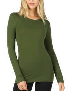 Army Green Crew Neck
