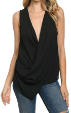 Load image into Gallery viewer, Drape Top, Black