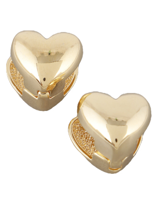 Heart Huggie Earrings, Gold