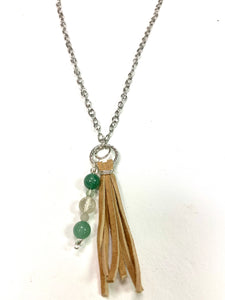 Stones + Tassel Necklace
