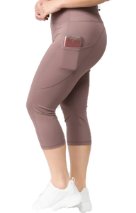 Smokey Mauve Leggings, PLUS