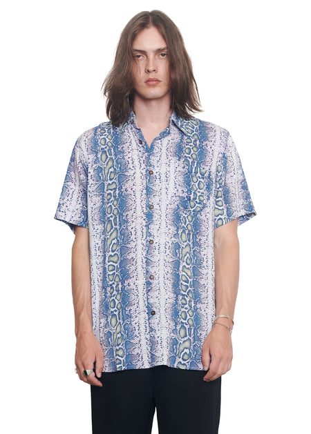 STEVIE SHIRT - BLUE MAMBA