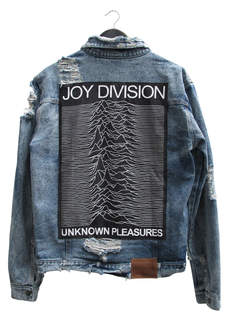 JOY DIVISION COLLECTOR EDDIE DESTROYED DENIM JACKET - VINTAGE INDIGO