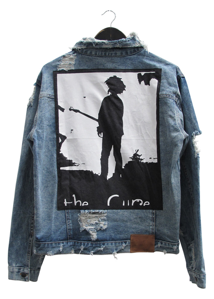 THE CURE COLLECTOR EDDIE DESTROYED DENIM JACKET - VINTAGE INDIGO