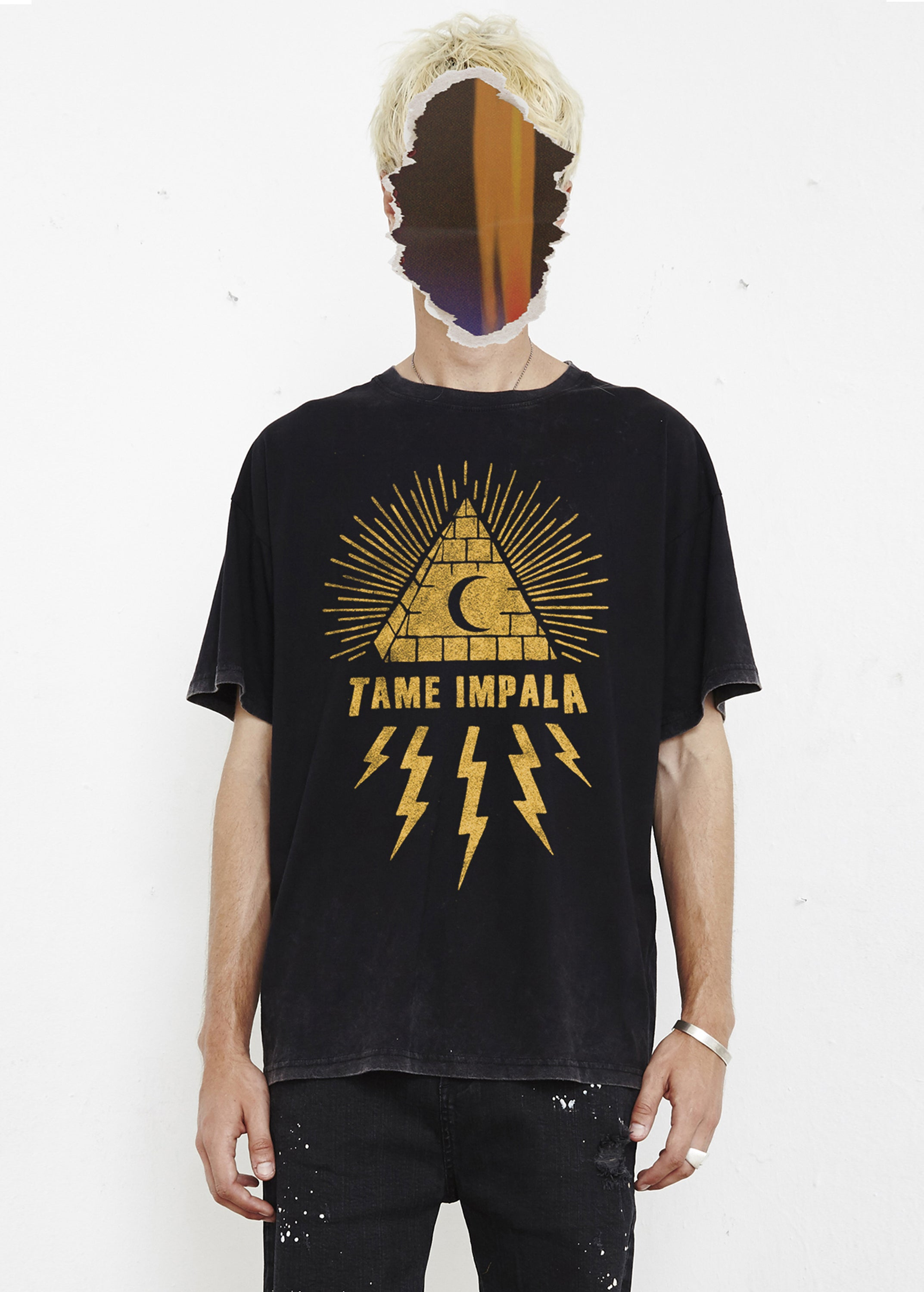 THE PEOPLE VS X TAME IMPALA TEE - YELLOW GRAPHIC