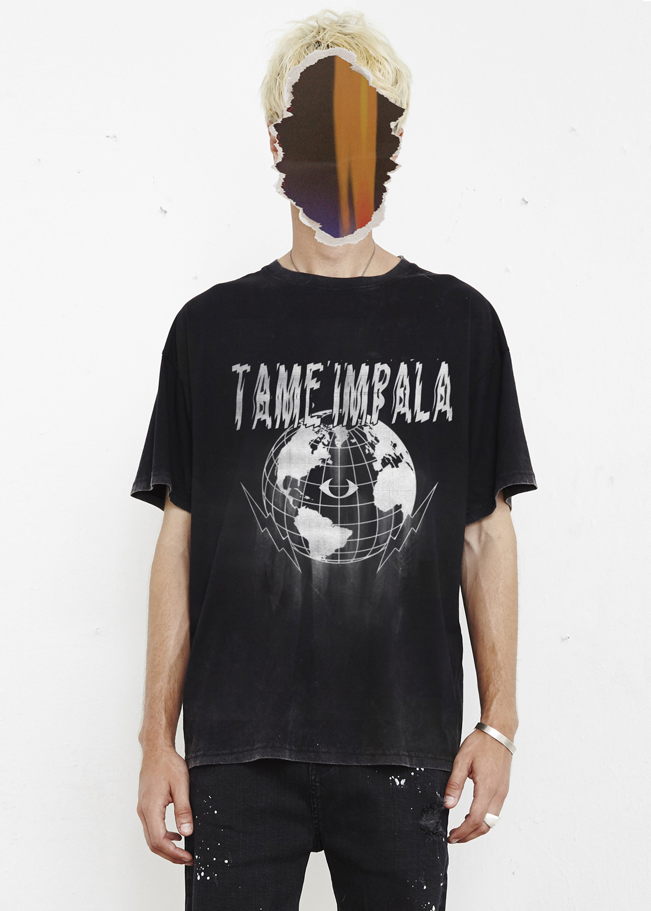 THE PEOPLE VS X TAME IMPALA GLOBE TEE - WHITE