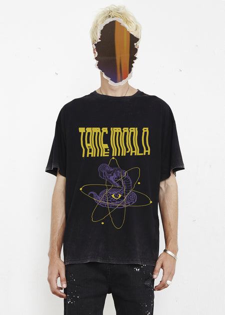 THE PEOPLE VS X TAME IMPALA SERPENT TEE - YELLOW / PURPLE