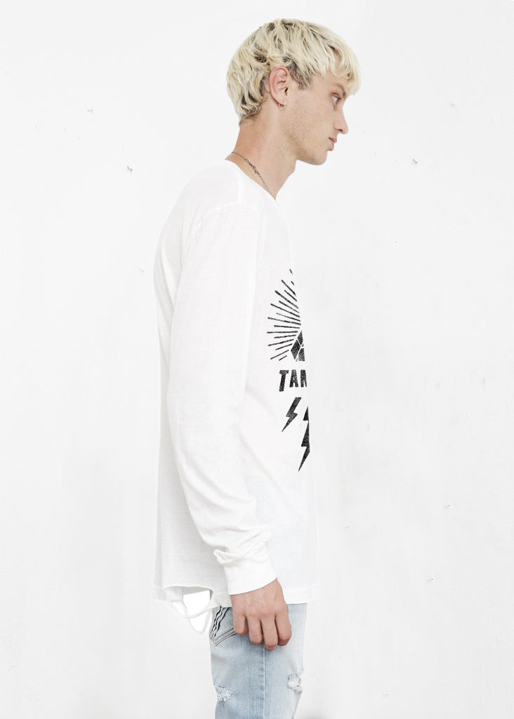 THE PEOPLE VS X TAME IMPALA LONGSLEEVE WHITE TEE