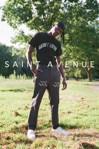 St. Avenue Collegiate Tee (Black)