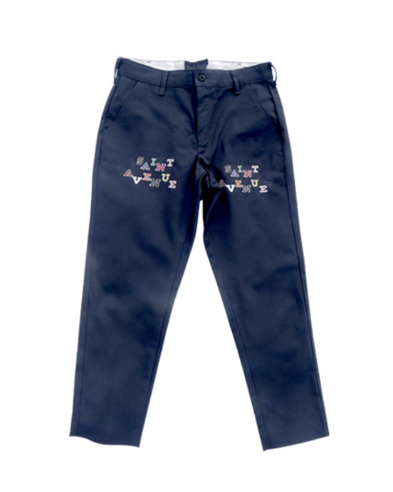 Collegiate Block Pants (Charcoal)