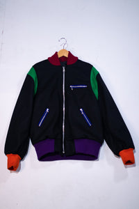Color Block Varsity Bomber