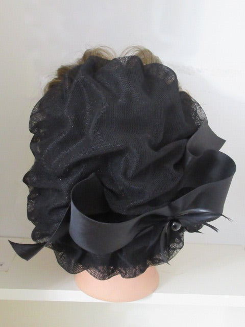 Satin Feathers Bow BH