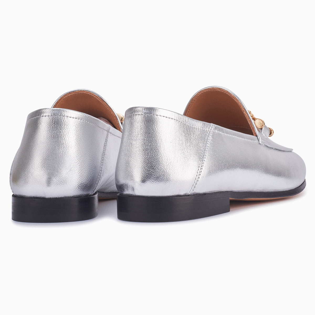 Hyusto Debbie Loafer Silver Glove back view