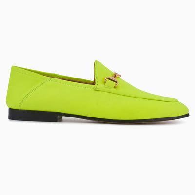Hyusto Debbie Loafer Neon Yellow Glove Side View
