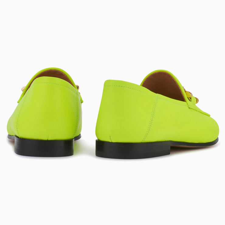 Hyusto Debbie Loafer Neon Yellow Glove back view