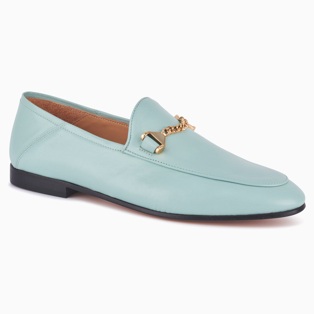 Hyusto Debbie Loafer Mint Glove 3/4 View
