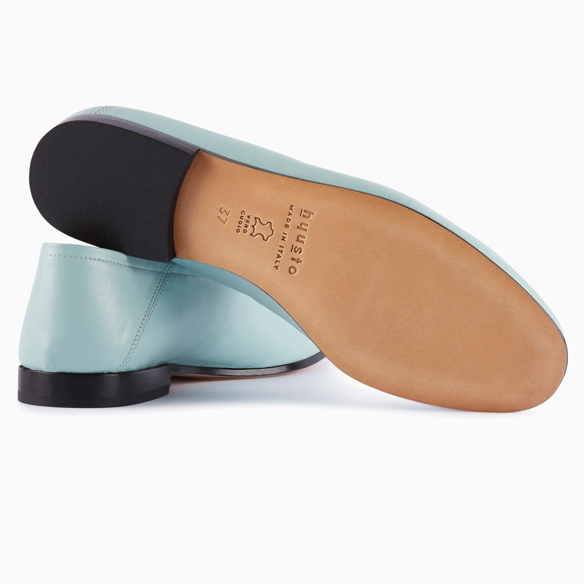 Hyusto Debbie Loafer Mint Glove bottom view sole