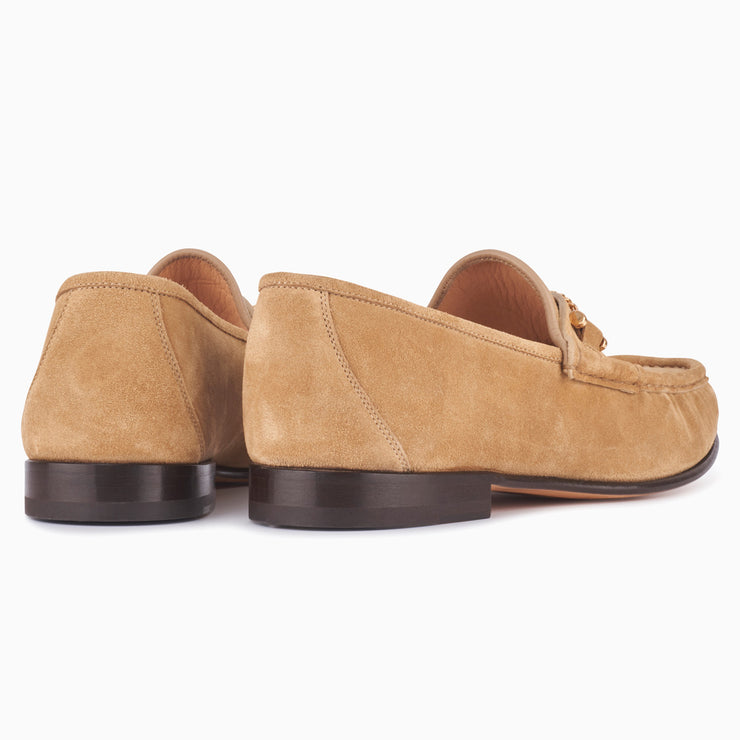 Hyusto Mick Moccasin Sand suede back view
