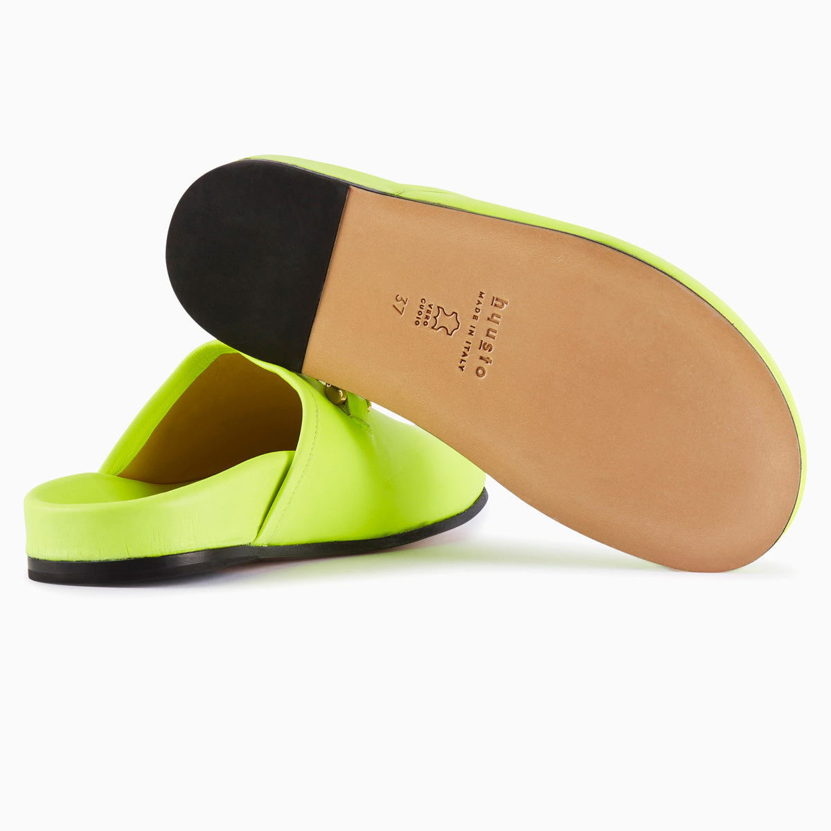 Hyusto Quincy Neon Yellow Glove bottom view sole