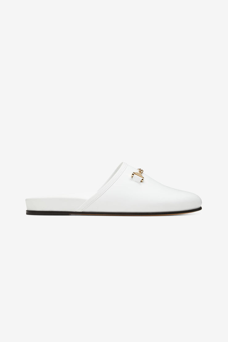 Quincy Slipper White Leather
