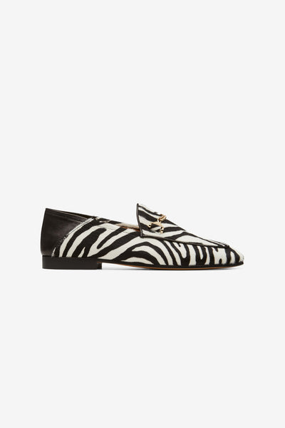 Hyusto Debbie Loafer Zebra Pony hair Side view
