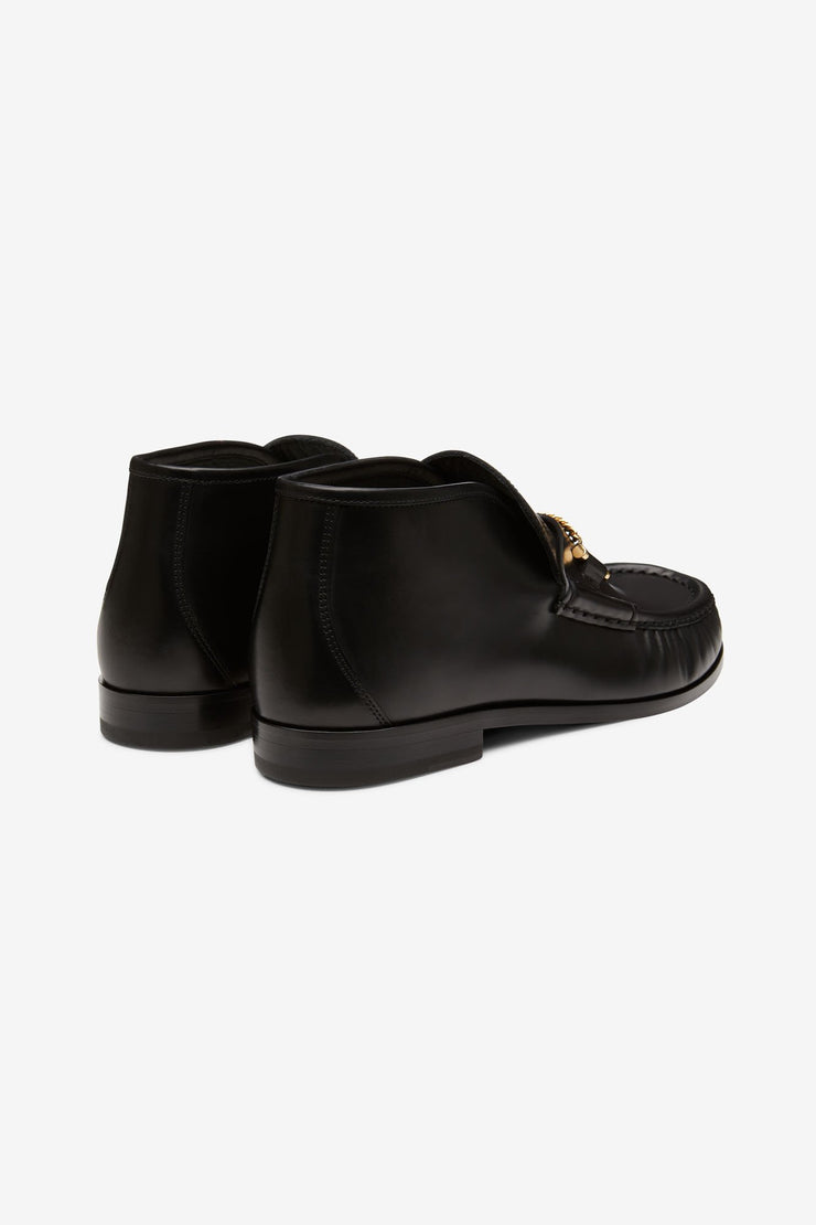 Mick Mid Moccasin Black Leather