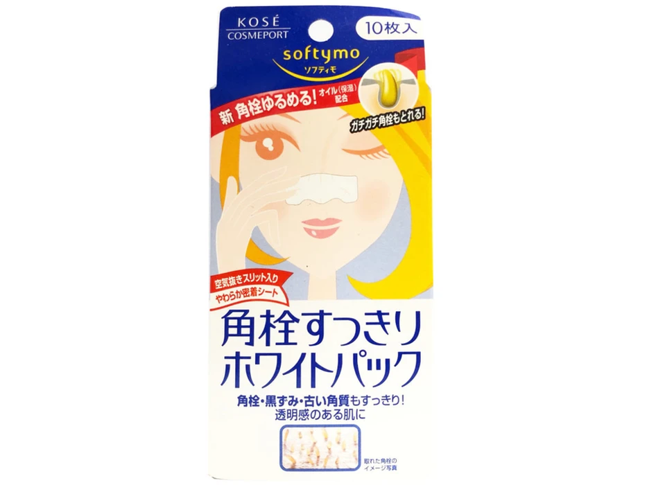 Kose: Softymo Nose Pore Cleaning Pack (10 Sheets)