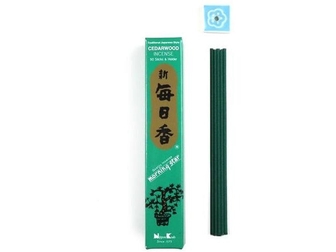 MORNING STAR Incense - Cedarwood 50 sticks