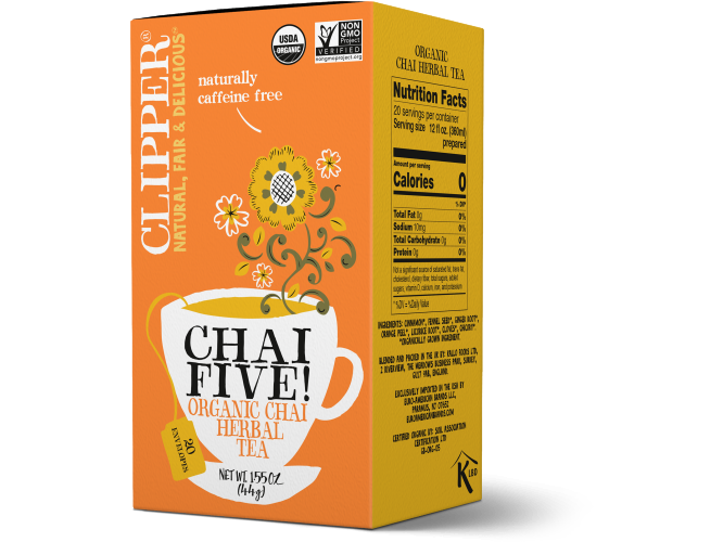 Organic Chai Five Herbal Tea 20serv.(1.55oz/44g)