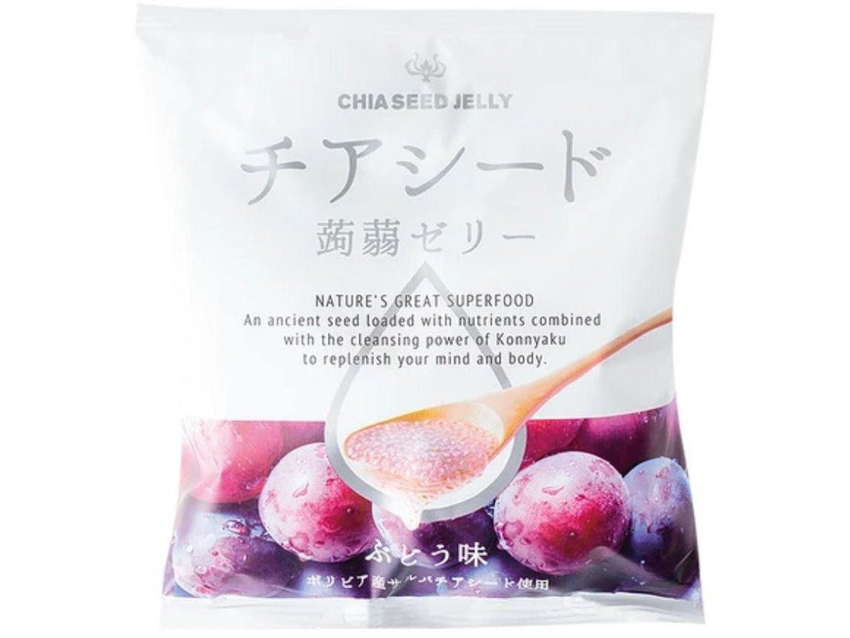 Chia Seed Konnyaku Jelly Grape (10-Pouch Bag)