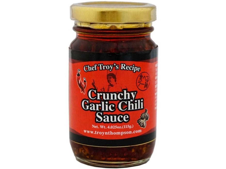 Chef Troy's Recipe Crunchy Garlic Chili Sauce (4.025oz/115g)