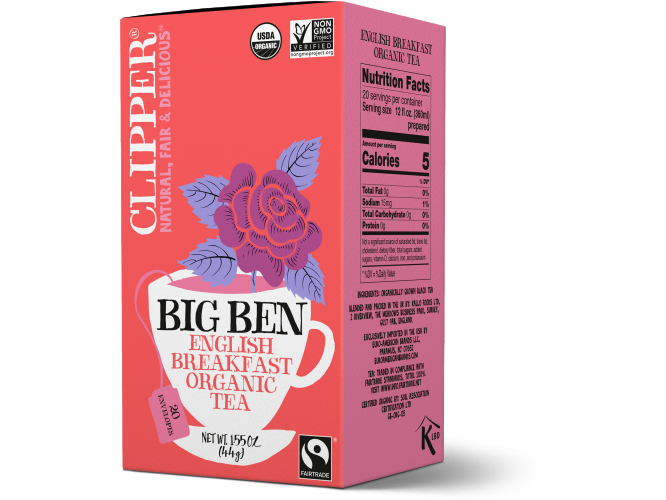 Organic Big Ben English Breakfast 20serv.(1.55oz/44g)