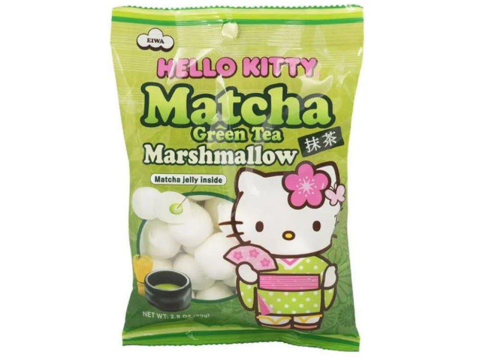 Hello Kitty Matcha Green Tea Marshmallow (3.1oz/90g)
