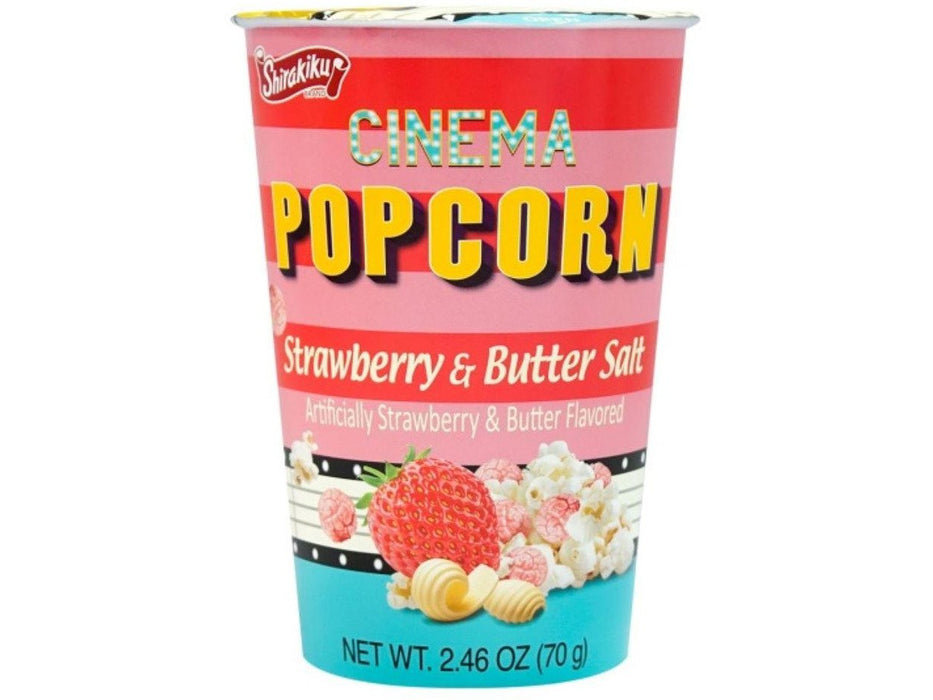 Popcorn Cinema Artificially Strawberry & Butter Flavored (2.46oz/70g)