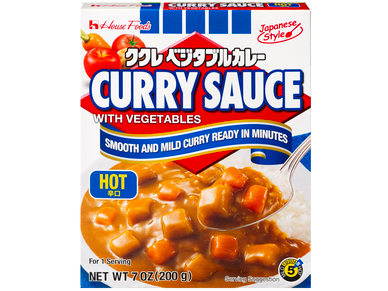 CURRY SAUCE with VEGETABLE, HOT (7.4 Oz)