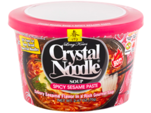 Crystal Noodle Soup, Spicy Sesame Paste