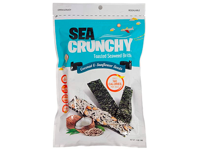 Toasted Seaweed Brittle Snacks - Coconut & Sunflower Seeds (1 Oz).
