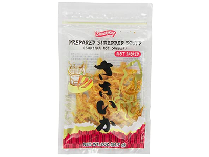 Prepared Shredded Squid - Hot Smoked (2oz)