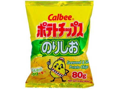 Seaweed & salt Potato Chips (2.8oz/80g)