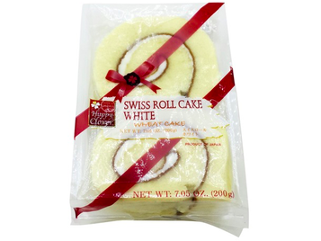 Happy Clover Swiss Roll Cake - White 4pcs (7.05oz/200g)
