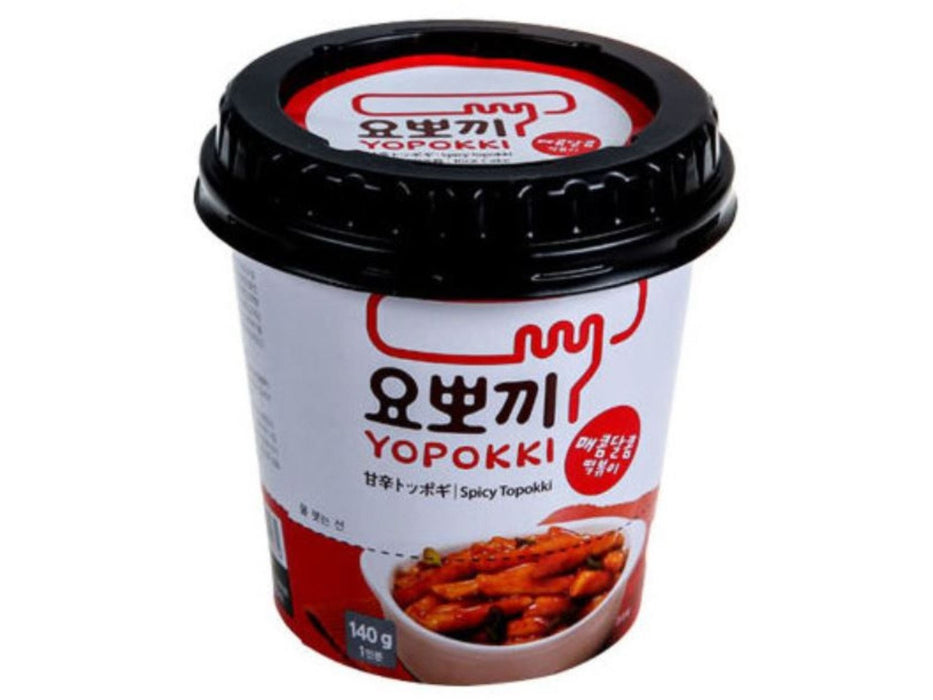 Yopokki Korean Rice Cake Instant Cup Spicy and Sweet Sauce 1 Serv.(4.94oz/140g)
