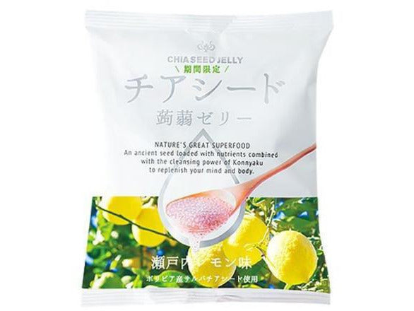 Chia Seed Konnyaku Jelly Lemon (10-Pouch Bag)