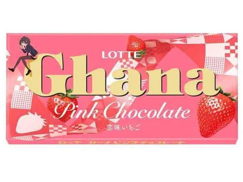 Lotte Ghana Pink Chocolate Strawberry (1.66oz/47g)